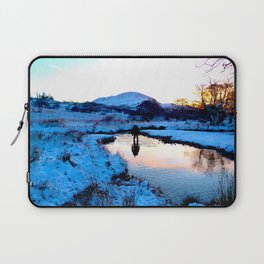 Snowy puddles Laptop Sleeve