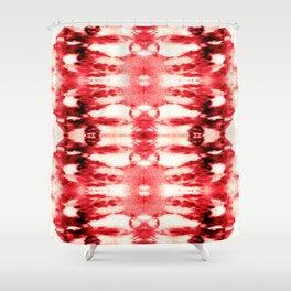 Tie-Dye Chili Shower Curtain
