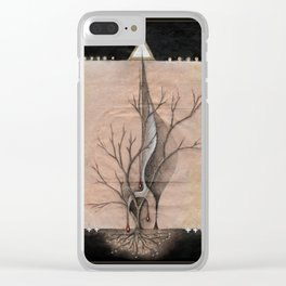 The Feather Name Clear iPhone Case