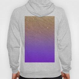 Elegant gold faux glitter chic purple gradient pattern Hoody
