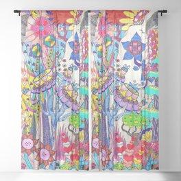 Mountain Abstract Sheer Curtain
