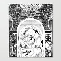 "koi fish Canvas Prints featuring ""Koi Fish"" by Eva Redamonti"