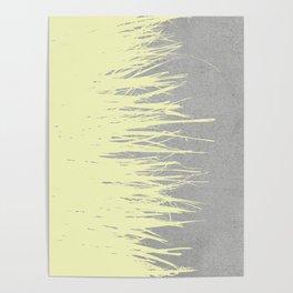 Concrete Fringe Yellow Poster