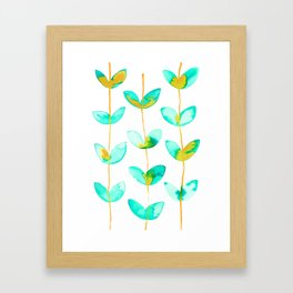 corazones enlazados blue Framed Art Print