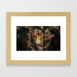 """I care..""Supercorp Framed Art Print"