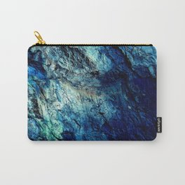 Mineral Texture Dark Teal Ocean Blue Carry-All Pouch