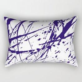Modern abstract navy blue watercolor brushstrokes pattern Rectangular Pillow