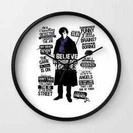 Detective Quotes Wall Clock