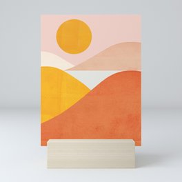 Abstraction_Mountains Mini Art Print