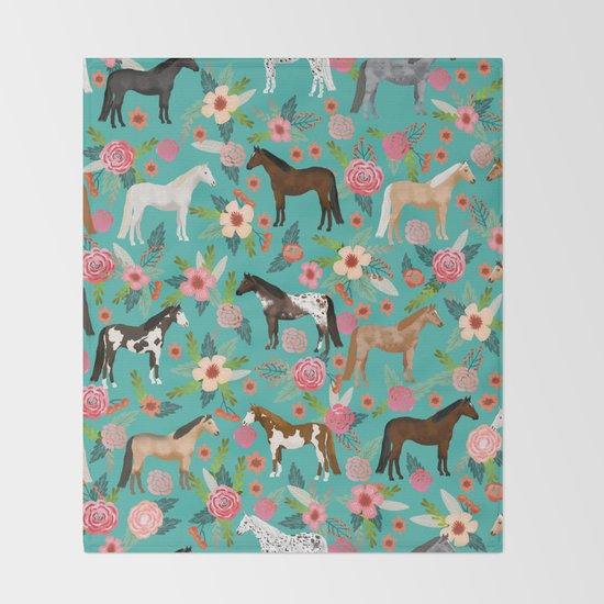 Horses floral horse breeds farm animal pets by farmfriendly