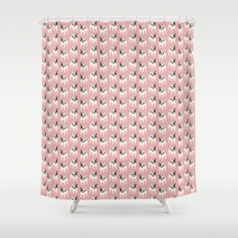 Happy and Fun Single Hooded Pied French Bulldog Shower Curtain
