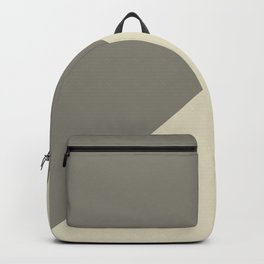 Modern abstract brown ivory color block pattern Backpack
