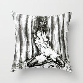 Woodoo Throw Pillow