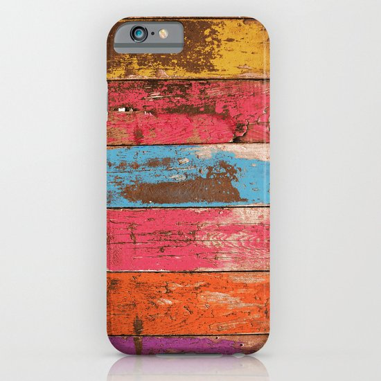 Vintage Colored Wood 2 iPhone & iPod Case