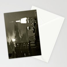 NYC under the moon Stationery Cards