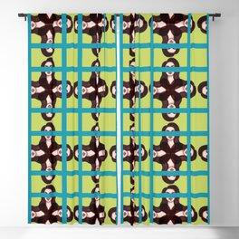 girl pattern1 Blackout Curtain