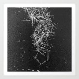 Brush Dust Heart Symbol Art Print