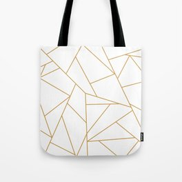 Geometric Gold Hexagon Pattern Tote Bag