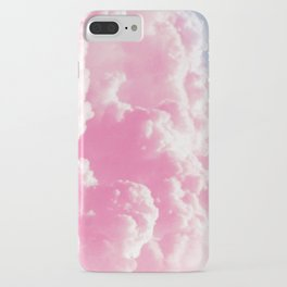 Retro cotton candy clouds iPhone Case