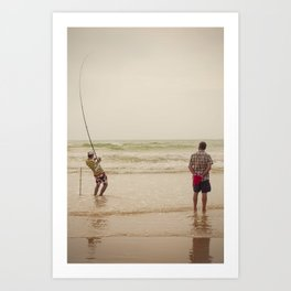 Pêche Art Print