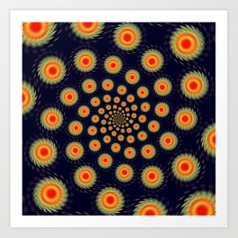 Stars motion Art Print