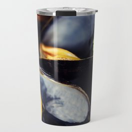 group of boiled mussels in shells Travel Mug