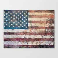 america Canvas Prints featuring america  by Roquito