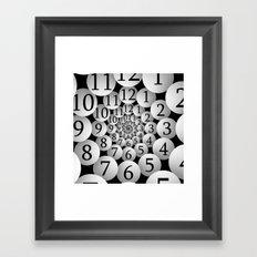 Fractal clock Framed Art Print