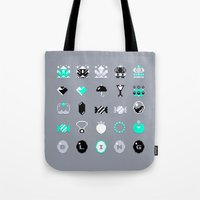 8 bit Tote Bags featuring 8-Bit Bling by Spires