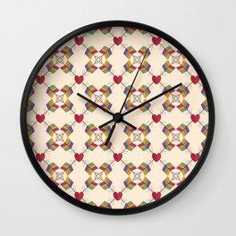 Arrow Heart Pattern Wall Clock