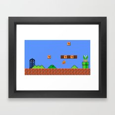 Dr. Mario? No...Doctor Who? Framed Art Print