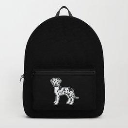 Harlequin Great Dane Dog Cute Cartoon Illustration Backpack