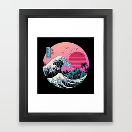 The Great Retro Wave Framed Art Print