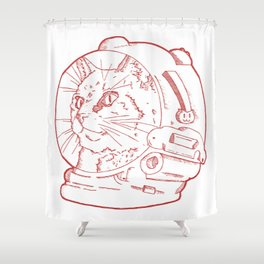 Space Kitty Cat. Shower Curtain