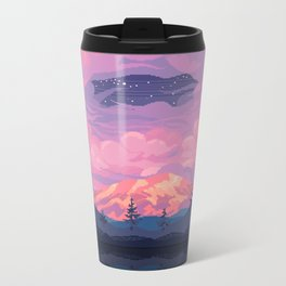 Mount Rainier Metal Travel Mug