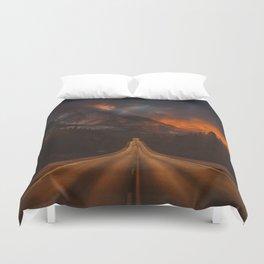 Firesky Mountains Duvet Cover