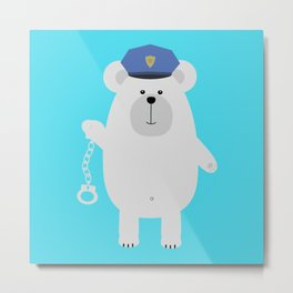 Polar bear with Metal Print