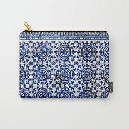 Cobalt Flourish Carry-All Pouch