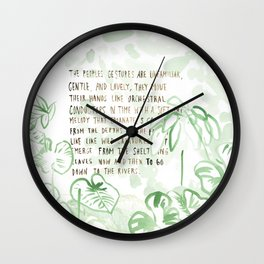 """""""Conquest of the Useless"""" by Werner Herzog Print (v. 3) Wall Clock"""