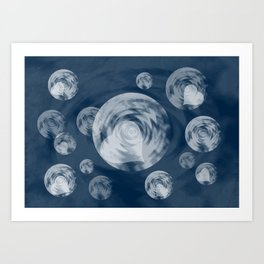 RAINING MIDNIGHT HEARTS  Art Print