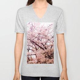 Hiroshima Castle (Cherry Blossom) Unisex V-Neck