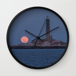 North Tower Blue Moon Rise Wall Clock