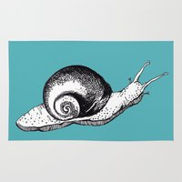 snail Area & Throw Rugs featuring Snail by Aubree Eisenwinter