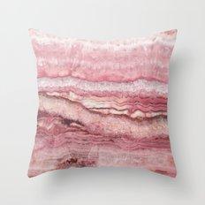 Mystic Stone Blush Throw Pillow