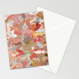 Coral Beads Paint Splatter 5050 Stationery Cards