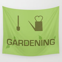 I heart Gardening Wall Tapestry