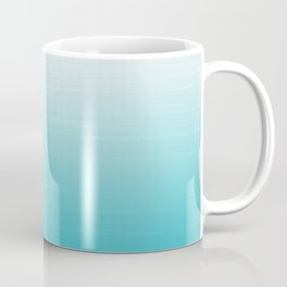White to Robins Egg Blue Painted appearance gradient ombre Coffee Mug