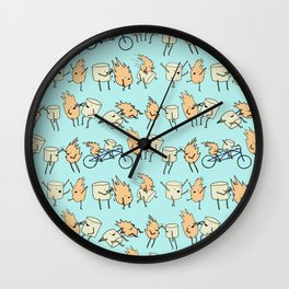 Toasted Marshmallow Wall Clock