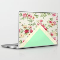 floral pattern Laptop & iPad Skins featuring Floral pattern by ''CVogiatzi.