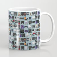 gamer Mugs featuring Gamer by James Brunner